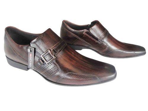 b2bb531a39 Sapato Ferracini Social Fivela Masculino Couro - 3425203 - Celeste Calçados