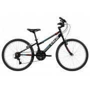 Bicicleta Caloi Forester Aro 24 Preta / Cinza, Vermeho E Azul