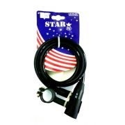 Cadeado Star Wip 12mmX100cm Para Bike