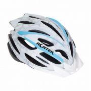 Capacete Ciclista Rontek Rt-31 Branco E Azul