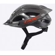 Capacete Ciclista Tsw Mtb Walk C Led Viseira Regulagem Cinza Escuro