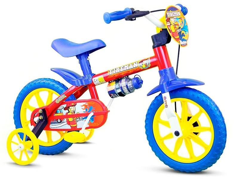 Bicicleta Aro 12 Fireman Infantil Masculina
