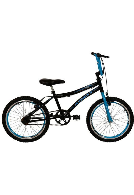 Bicicleta Aro 20 Athor Atx Preta E Azul