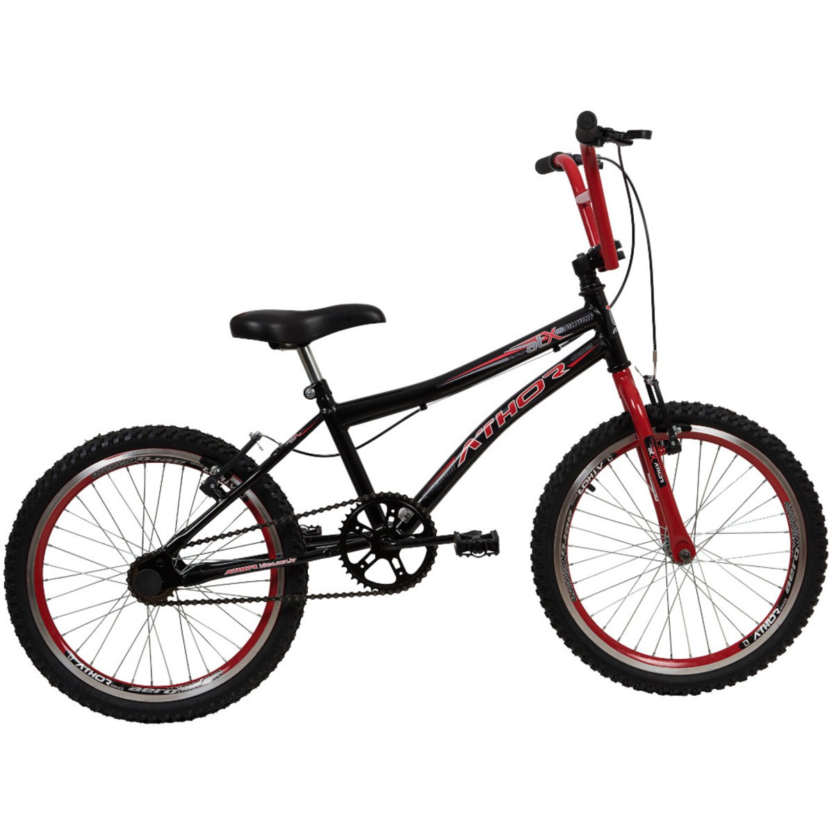 Bicicleta Aro 20 Athor ATX - Preto/Vermelho