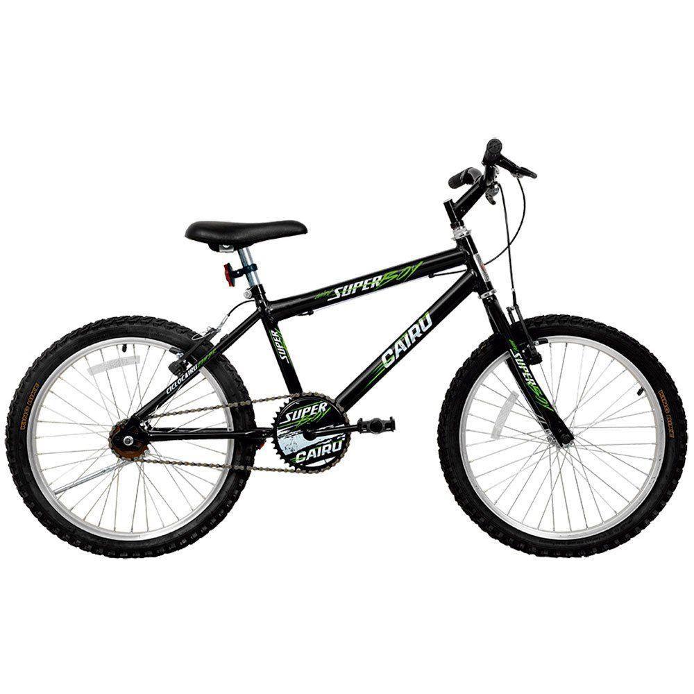 Bicicleta Cairu Aro 20 Mtb Masculina Super Boy Preta