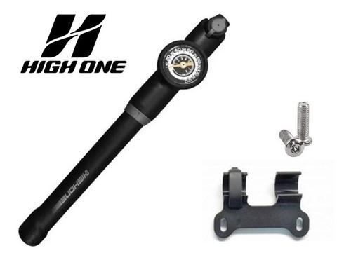 Bomba de Bicicleta High One Gp-871S com Manômetro e Mangueira