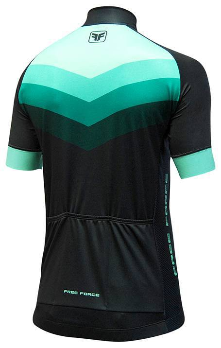 Camisa Ciclista Free Force Bend Preto/Verde