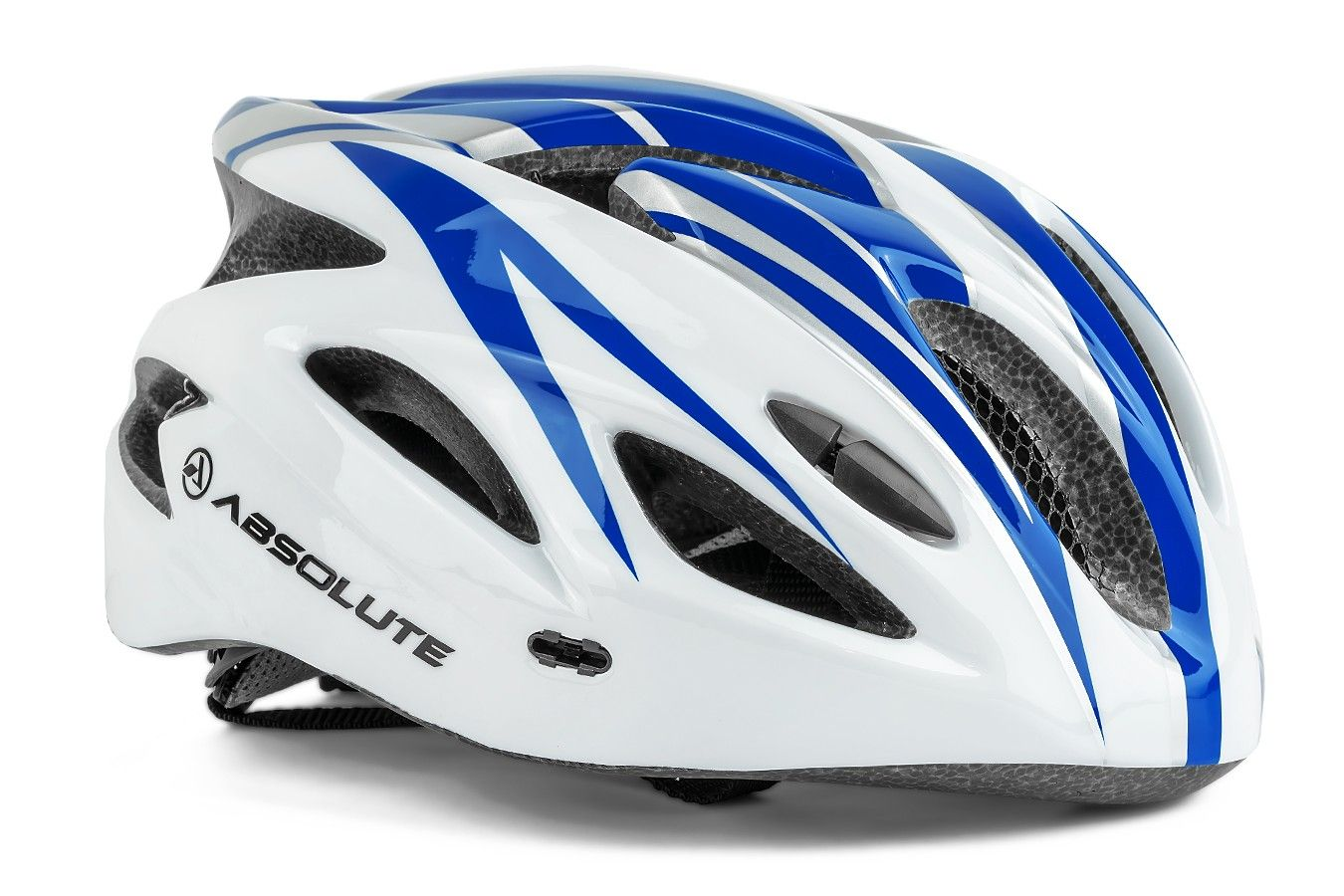 Capacete Absolute Branco/Azul Com Led Sinalizador G
