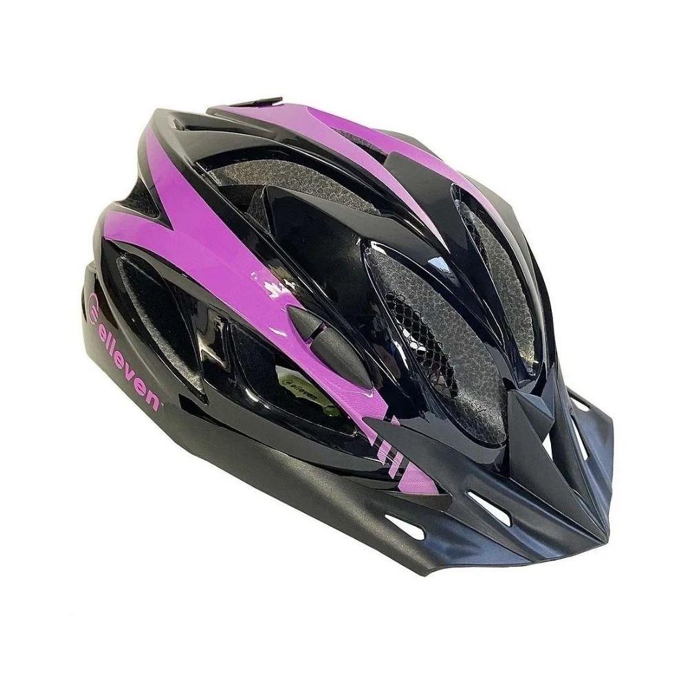 Capacete Ciclismo (Preto/Lilas) - Elleven
