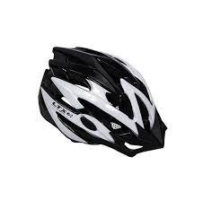 Capacete Ciclista Ltx Com Led Branco e Preto