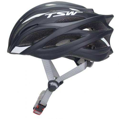 Capacete Ciclista Tsw Speed Team Medio Preto/Branco Para Bike