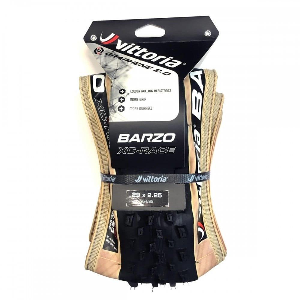 Pneu Barzo XC Race 29 X 2.25 TLR G2.0 Preto/Bege - Vittoria