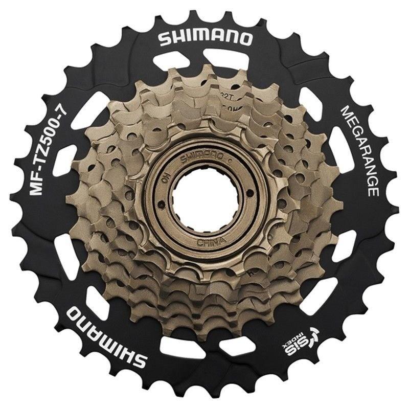 Roda Livre Shimano 7v Tz500 MegaRange 14/34 Dente Para Bike