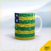 Caneca Bandeira do Estado de Goiás - molhada