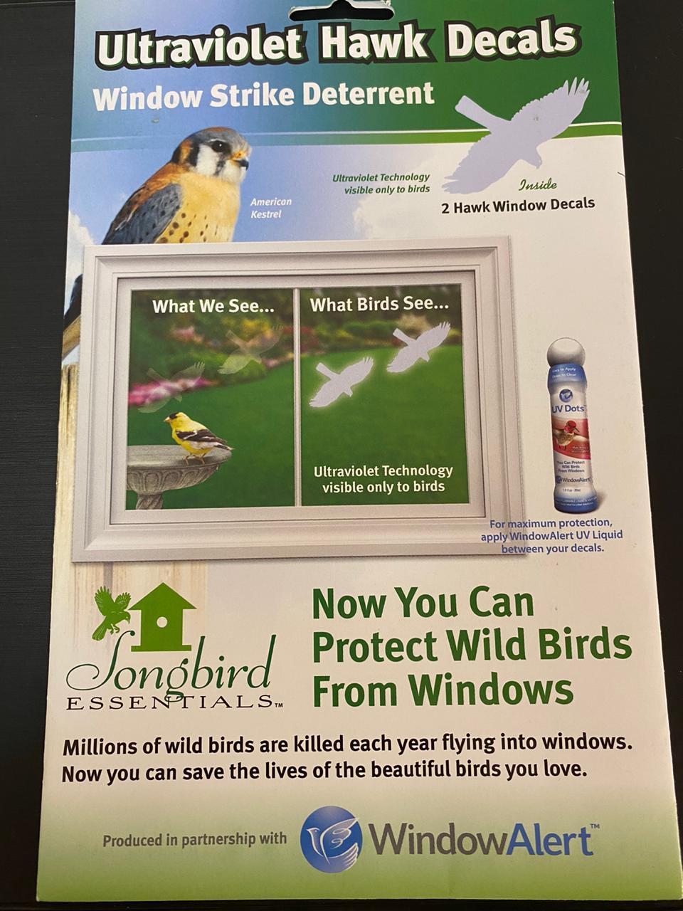 Adesivo estático protetor de pássaros - Window Alert - 2 Unidades