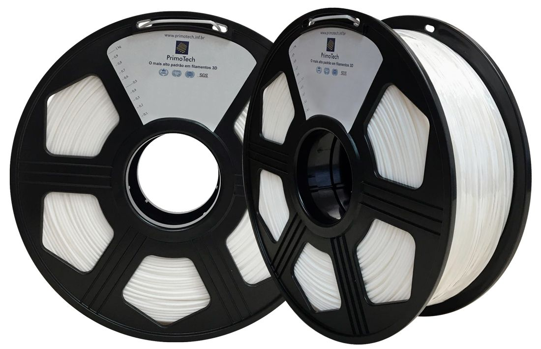 Filamento PLA Branco 1,75mm - 1kg