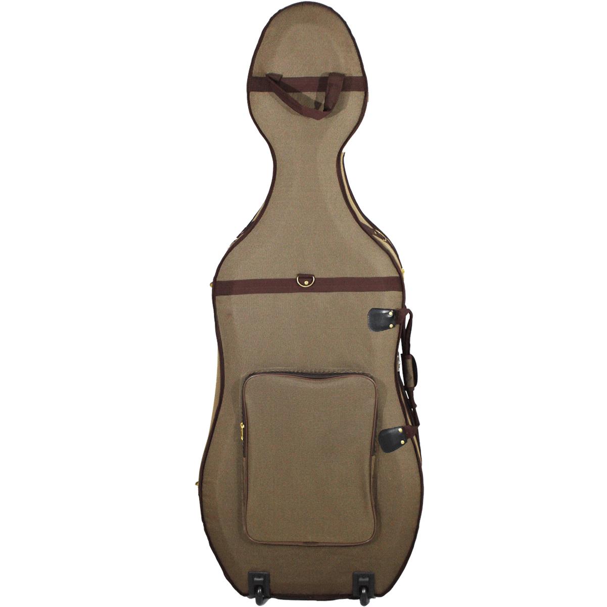 Estojo Case Cello Violoncelo 4/4 Orquezz Térmico Luxo marrom