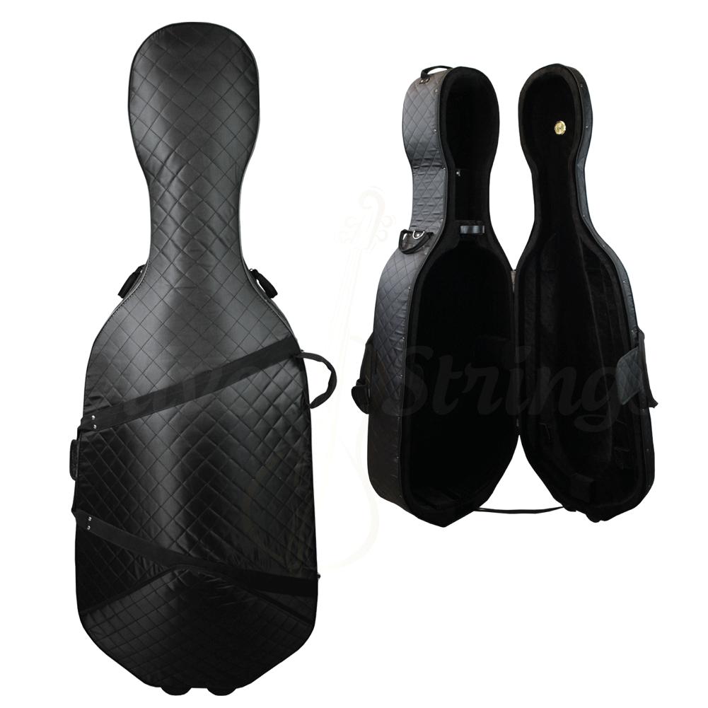 Estojo luxo térmico soft preto para violoncelo 4/4