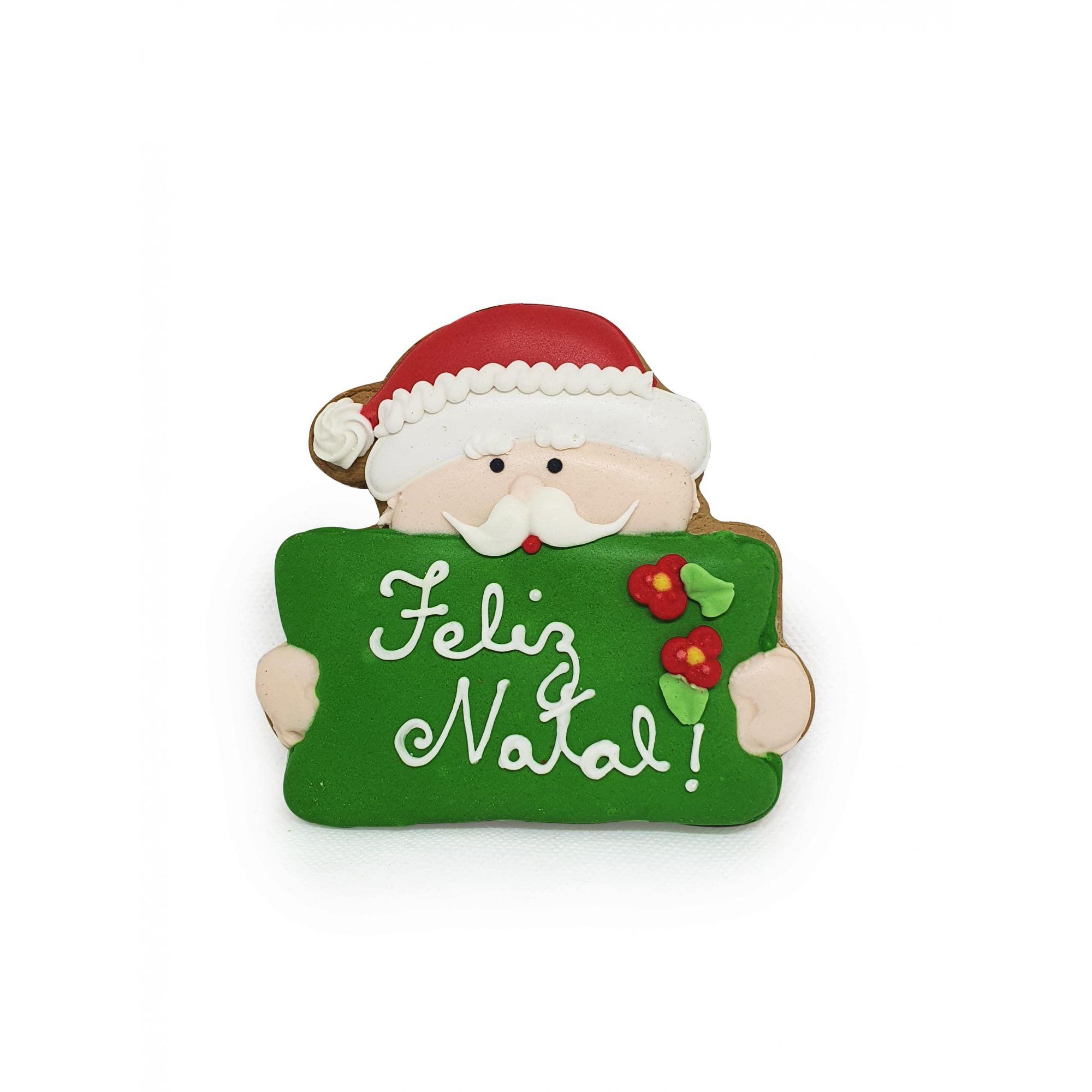 Decorado Papai Noel - Placa Feliz Natal - 50g
