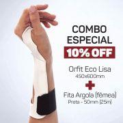 Combo Especial | Orfit Eco Lisa 450x600x2,4mm + Fita Argola (fêmea) Preta 50mm (25m)