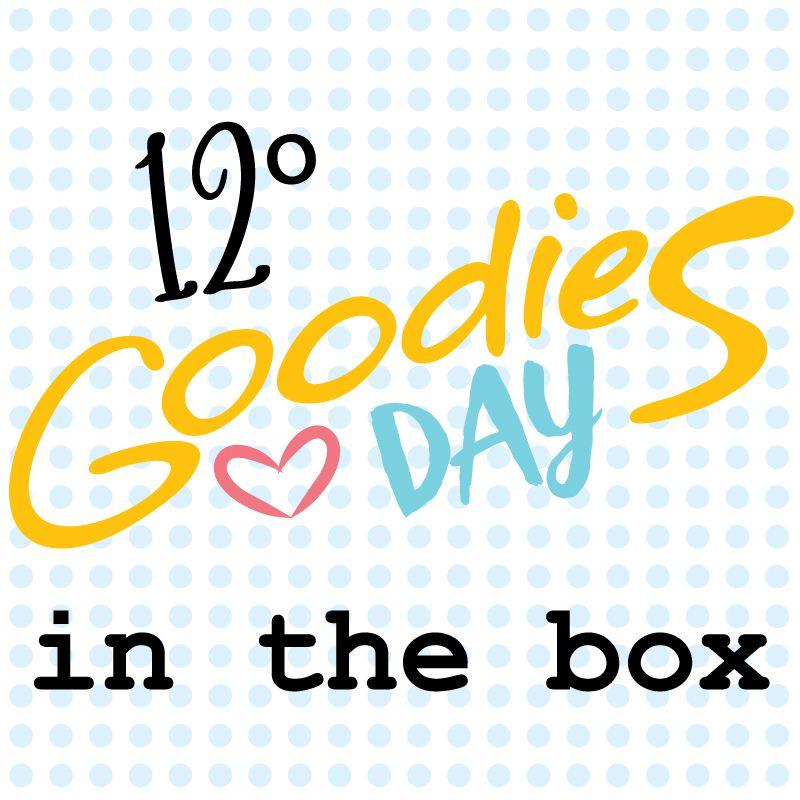 12º GOODIESDAY IN THE BOX - caixa com os projetos, kits e brindes  - SCRAP GOODIES