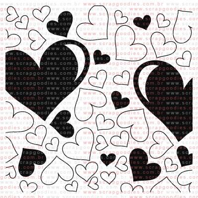 209 - Estampa de corações  - SCRAP GOODIES