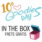 10º GOODIES DAY IN THE BOX - caixa com os projetos do evento - SCRAP GOODIES