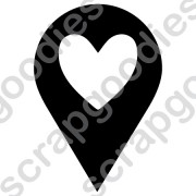 530 - Marcador Coração negativo - SCRAP GOODIES