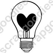 534 - Lâmpada com coração - SCRAP GOODIES