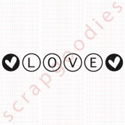 557 - Love Círculos - SCRAP GOODIES
