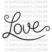 598 - Love - lettering - SCRAP GOODIES