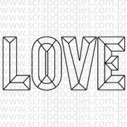 629 - LOVE diamante