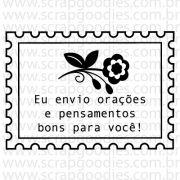 """736 - Selinho """"eu envio orações e pensamentos bons para vc"""""""