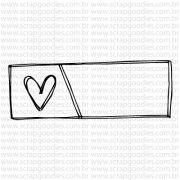 765 - Selo tag coração