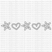 786 - Barrinha estrela / coração