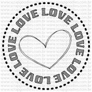 805 - Selo love com coração