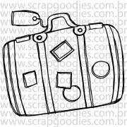816 - Mala de viagem com tag