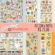 KIT Papéis Essencial - 1 de cada modelo