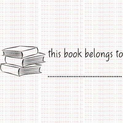 317 - This book belongs to  - SCRAP GOODIES