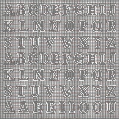 TR016 - Fundo Alfabeto  - SCRAP GOODIES