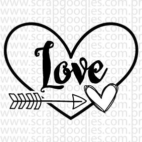 617 - love com flechinha e coração  - SCRAP GOODIES