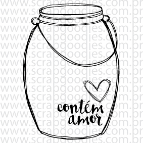 626 - Pote de vidro contém amor  - SCRAP GOODIES