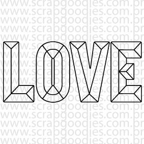 629 - LOVE diamante  - SCRAP GOODIES