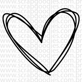 633 - Coraçãozinho riscadinho  - SCRAP GOODIES