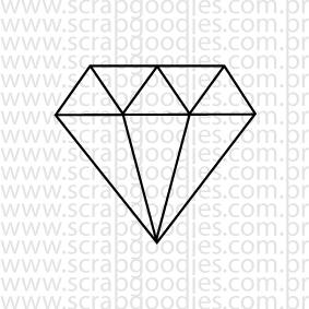 637 - Diamante (pequeno)  - SCRAP GOODIES