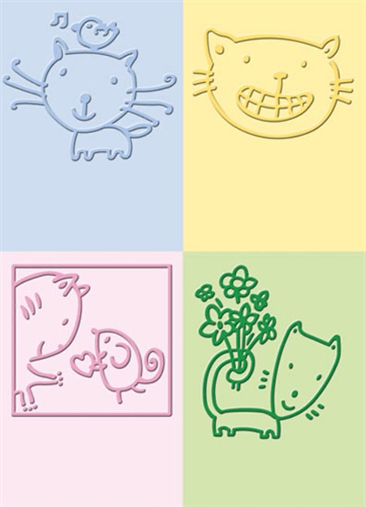 Emboss placa cats  - SCRAP GOODIES