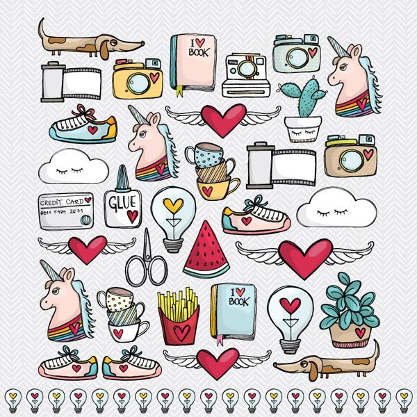 PP095 - WINGS & HEART  - SCRAP GOODIES