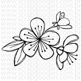 670 - Sakura - flor de cerejeira  - SCRAP GOODIES