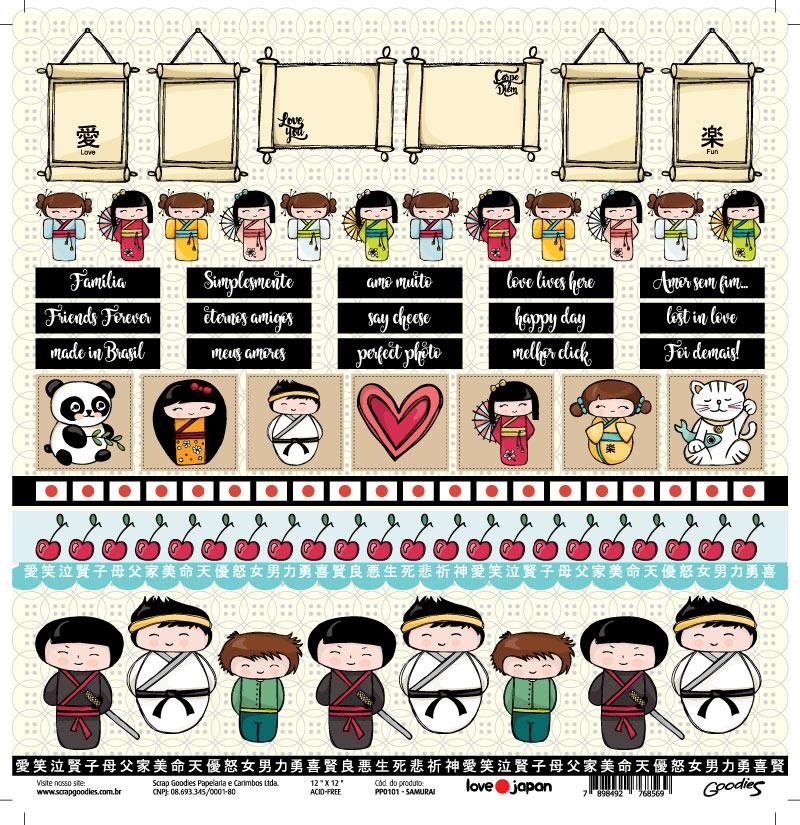 PP101 - Samurai - linha LOVE JAPAN  - SCRAP GOODIES