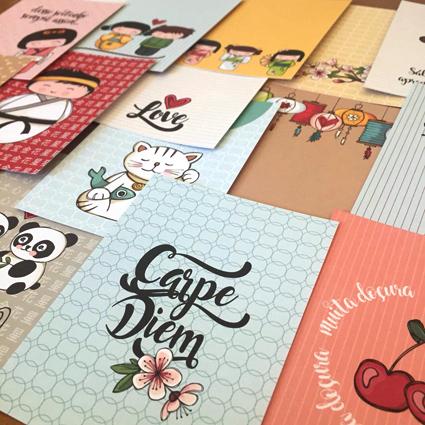 CARDS da linha LOVE JAPAN - 18 unidades diferentes!!!  - SCRAP GOODIES